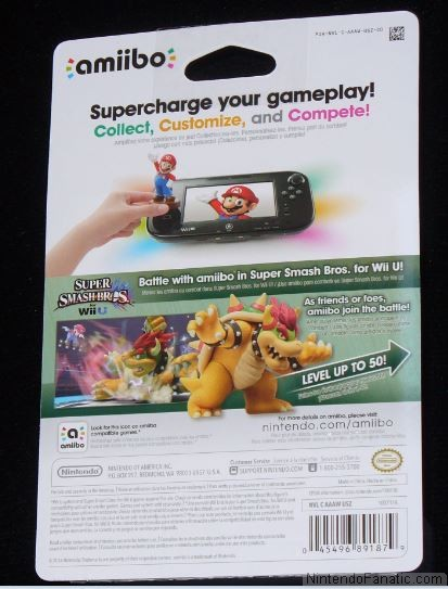 Super Smash Bros. Bowser Amiibo - Back of Box View