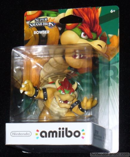 Super Smash Bros. Bowser Amiibo - Front of Box View