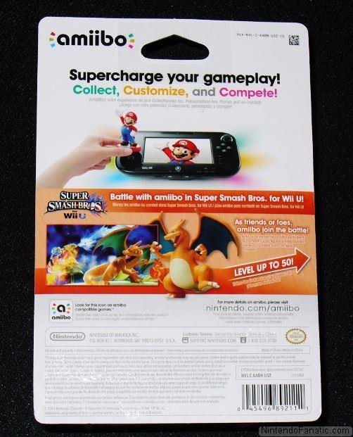 Super Smash Bros. Charizard Amiibo - Back of Box View