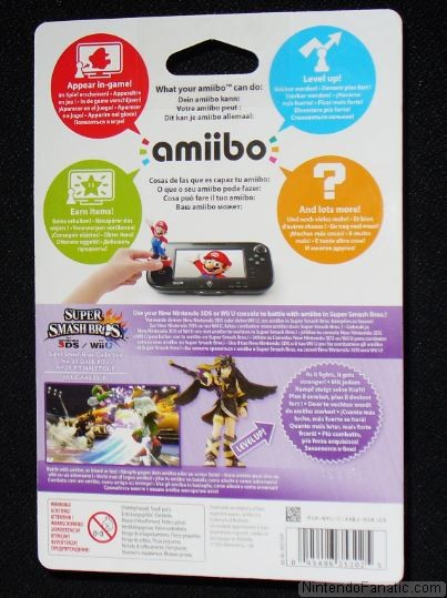 Super Smash Bros. Dark Pit Amiibo - Back of Box View