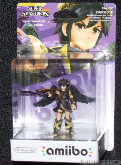 Super Smash Bros. Dark Pit Amiibo - Front of Box View