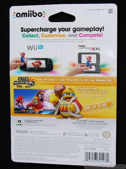 Super Smash Bros. King Dedede Amiibo - Back of Box View