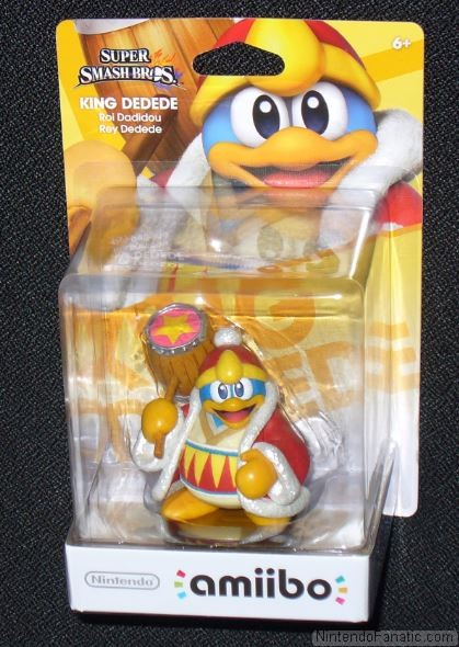 Super Smash Bros. King Dedede Amiibo - Front of Box View