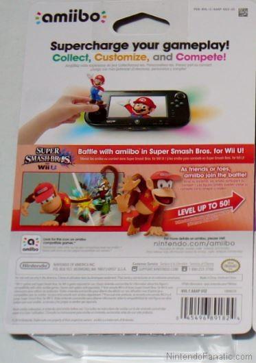 Super Smash Bros. Diddy Kong Amiibo - Back of Box View