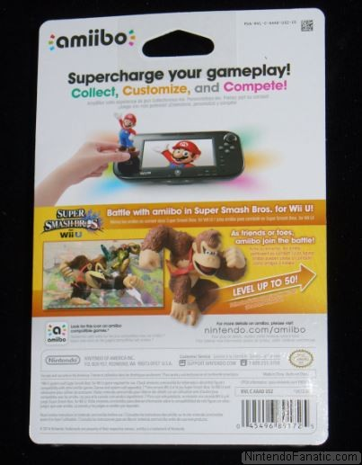 Super Smash Bros. Donkey Kong Amiibo - Back of Box View