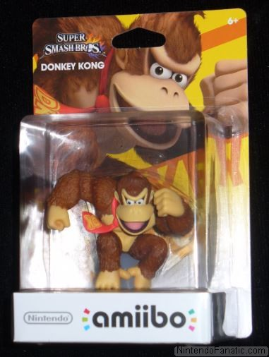 Super Smash Bros. Donkey Kong Amiibo - Front of Box View