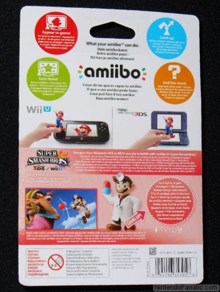 Super Smash Bros. Dr. Mario Amiibo - Back of Box View