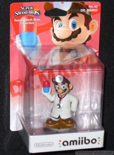 Super Smash Bros. Dr. Mario Amiibo - Front of Box View