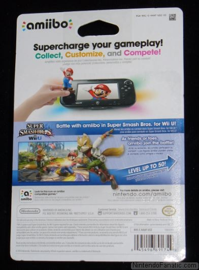 Super Smash Bros. Fox Amiibo - Back of Box View