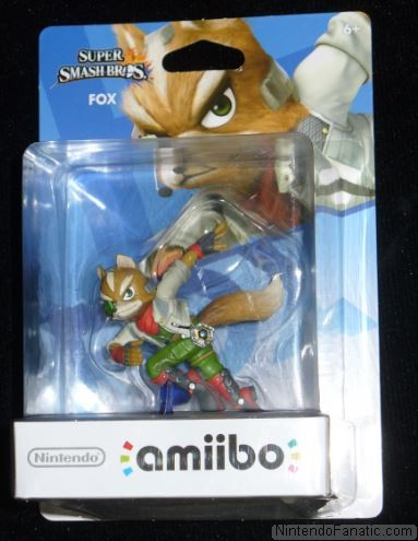 Super Smash Bros. Fox Amiibo - Front of Box View