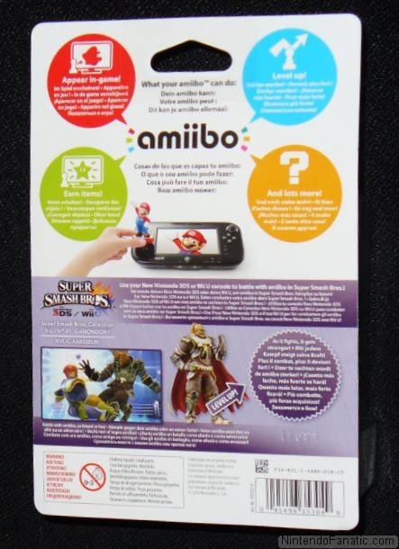 Super Smash Bros. Ganondorf Amiibo - Back of Box View