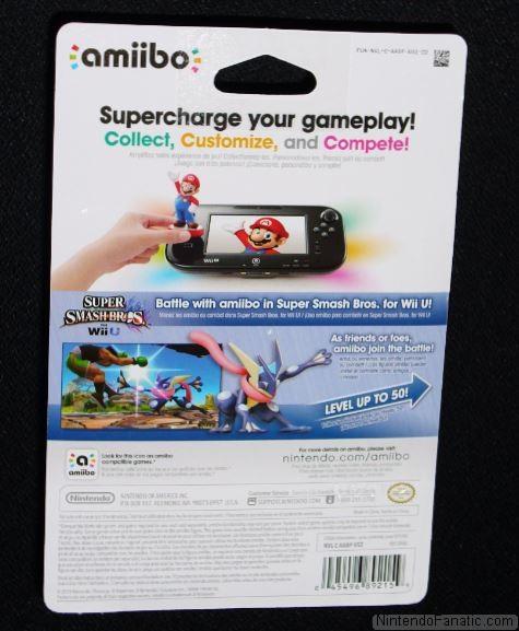 Super Smash Bros. Greninja Amiibo - Back of Box View