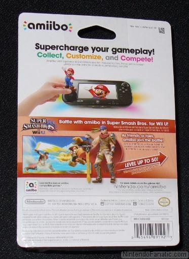 Super Smash Bros. Ike Amiibo - Back of Box View