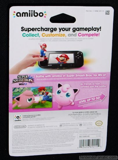 Super Smash Bros. Jigglypuff Amiibo - Back of Box View