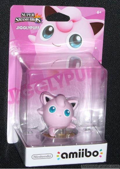 Super Smash Bros. Jigglypuff Amiibo - Front of Box View