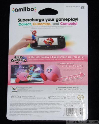 Super Smash Bros. Kirby Amiibo - Back of Box View