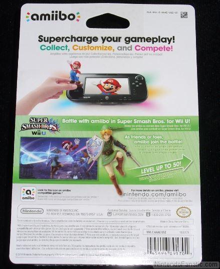 Super Smash Bros. Link Amiibo - Back of Box View