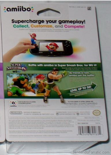 Super Smash Bros. Little Mac Amiibo - Back of Box View