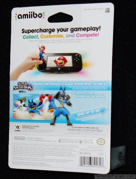 Super Smash Bros. Lucario Amiibo - Back of Box View