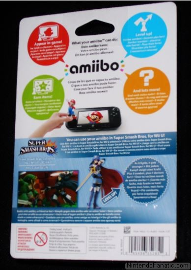 Super Smash Bros. Lucina Amiibo - Back of Box View