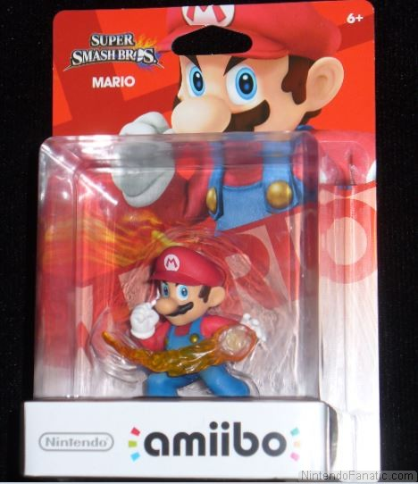 Super Smash Bros. Mario Amiibo - Front of Box View