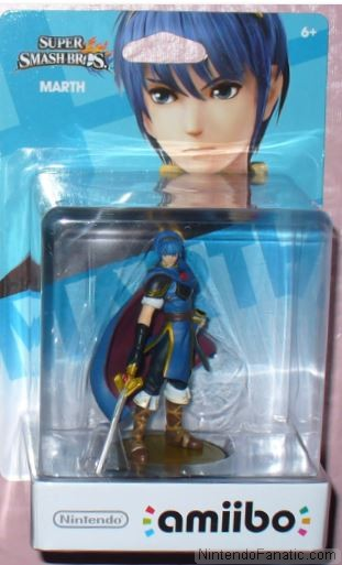 Super Smash Bros. Marth Amiibo - Front of Box View