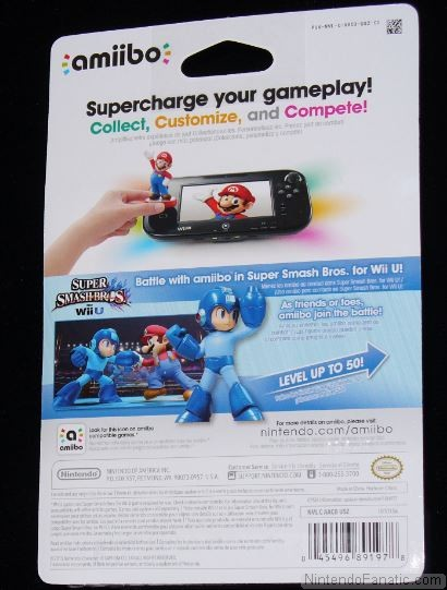 Super Smash Bros. Mega Man Amiibo - Back of Box View