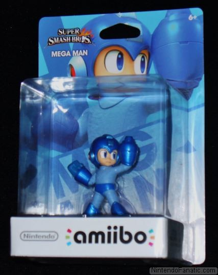 Super Smash Bros. Mega Man Amiibo - Front of Box View