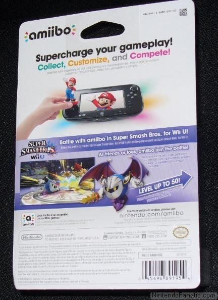 Super Smash Bros. Meta Knight Amiibo - Back of Box View