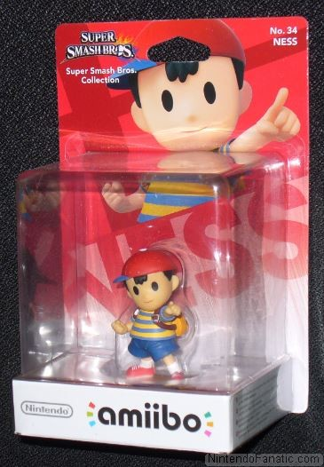 Super Smash Bros. Ness Amiibo - Front of Box View