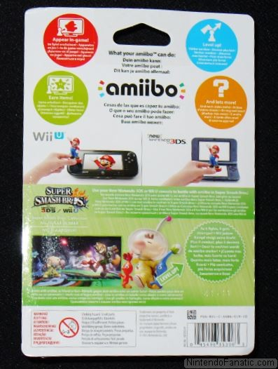 Super Smash Bros. Olimar and Pikmin Amiibo - Back of Box View
