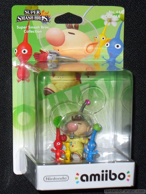 Super Smash Bros. Olimar and Pikmin Amiibo - Front of Box View