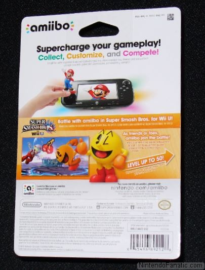 Super Smash Bros. Pac-Man Amiibo - Back of Box View