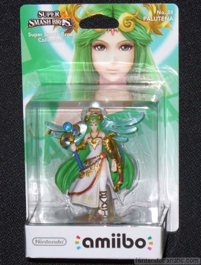 Super Smash Bros. Palutena Amiibo - Front of Box View