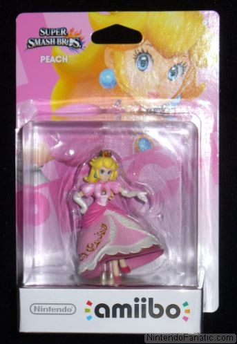 Super Smash Bros. Princess Peach Amiibo - Front of Box View