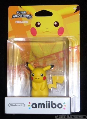 Super Smash Bros. Pikachu Amiibo - Front of Box View