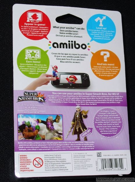 Super Smash Bros. Robin Amiibo - Back of Box View