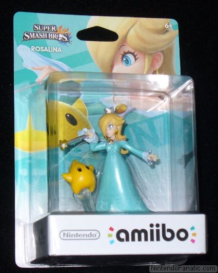 Super Smash Bros. Rosalina and Luma Amiibo - Front of Box View