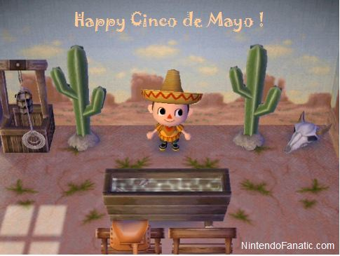 Cinco de Mayo in Animal Crossing City Folk