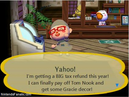 Nintendo Animal Crossing Tax Refund Day