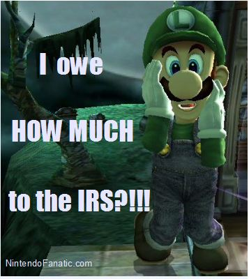 Nintendo Super Mario Luigi IRS Tax Day